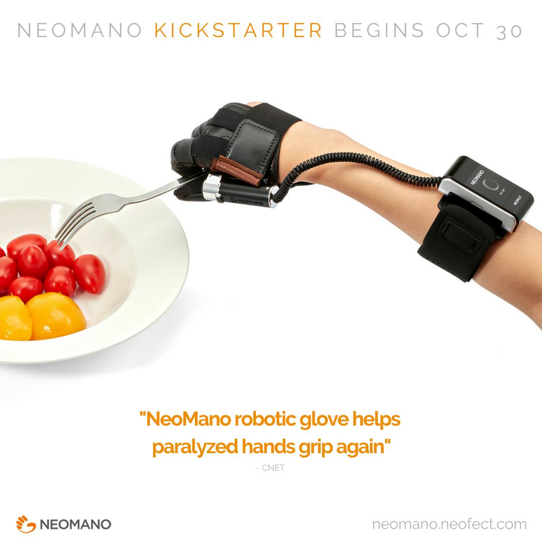 werable robotic hand, neomano kickstarter