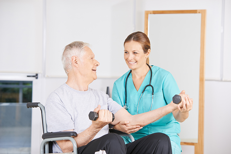 working out with therapist rapael home stroke recovery exercise rehabilitation