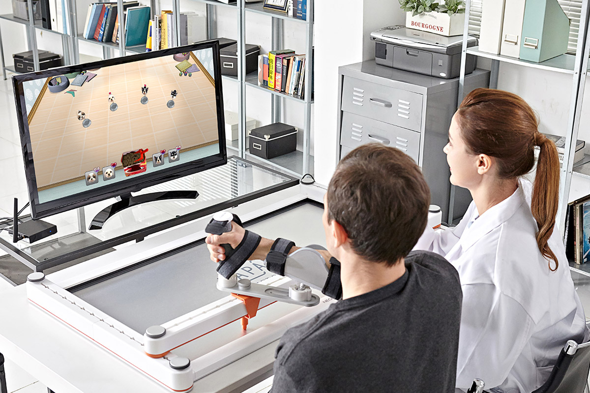 Smart Board Affordable Stroke Home Rehabilitation
